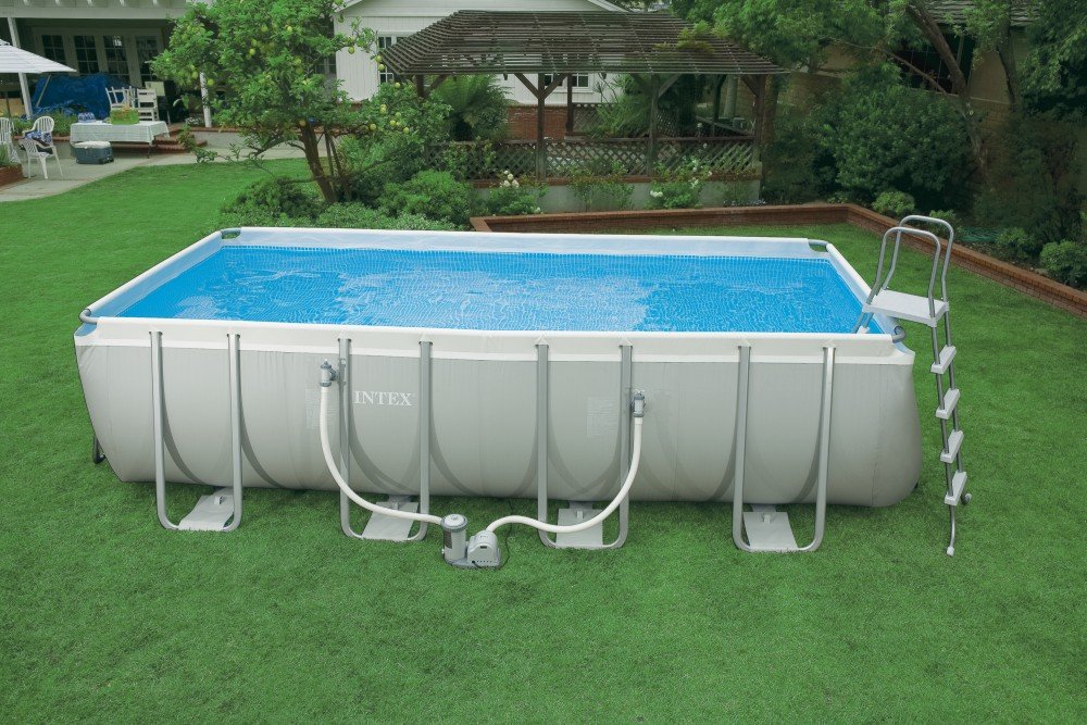 Piscina suport metalic+scara,kit intretinere, husa